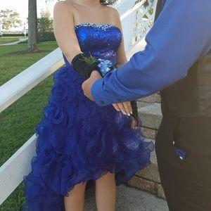 Strapless Dark Blue Prom/Homecoming